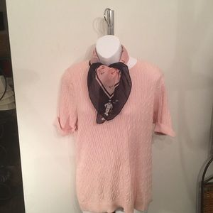 Talbots  100% Pima cotton short sleeve 2 pack wm L
